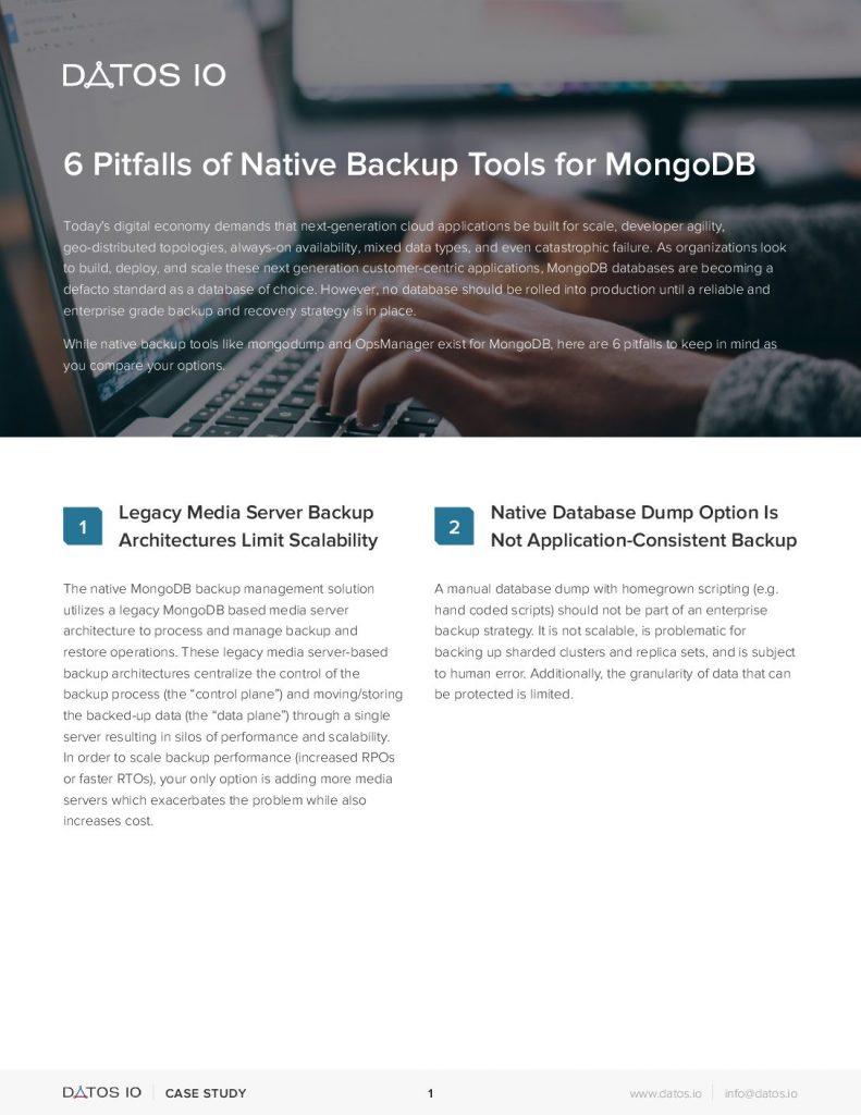 6 Pitfalls for Native Backup Tools for MongoDB