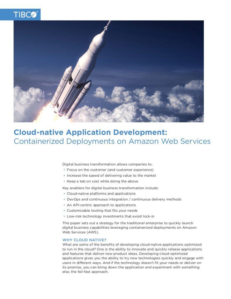 Cloud-native Application Development: Containerized Deployments on Amazon Web Services