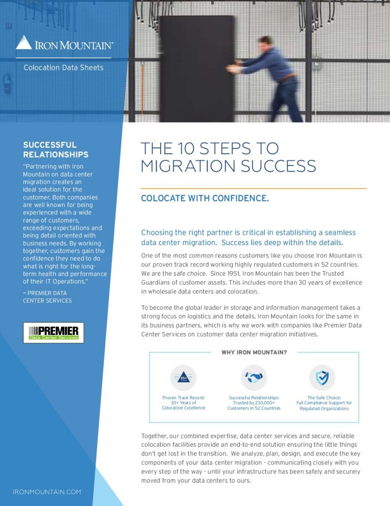 10 Steps to Migration Success