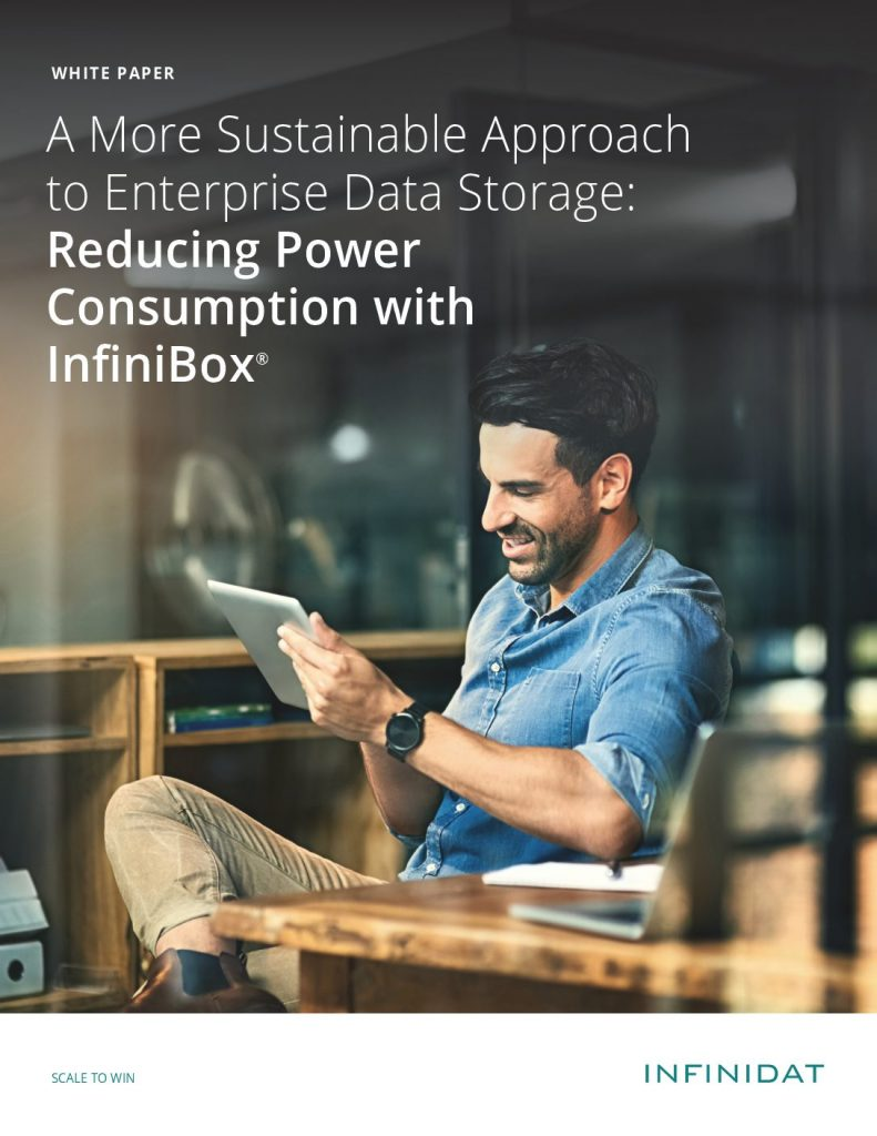 A More Sustainable Approach to Enterprise Storage: Reducing Power Consumption with InfiniBox®