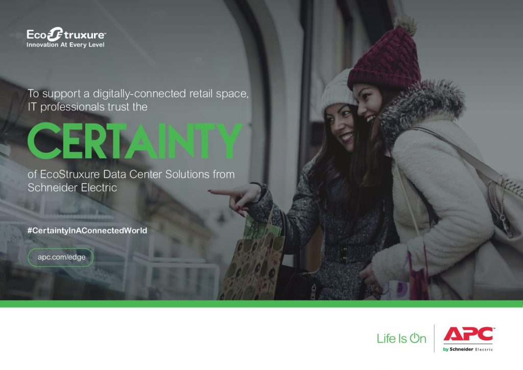 To Support a Digitally-Connected Retail Space, IT Professionals Trust the Certainty of EcoStruxure Data Center Solutions from Schneider Electric