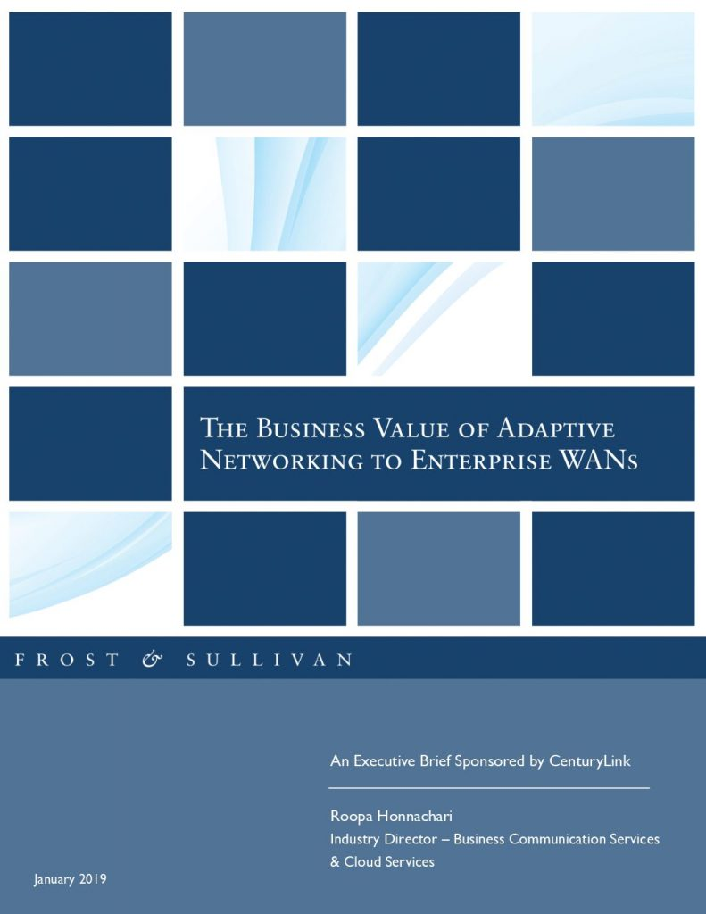 Frost & Sullivan: The Business Value of Adaptive Networking to Enterprise WANs