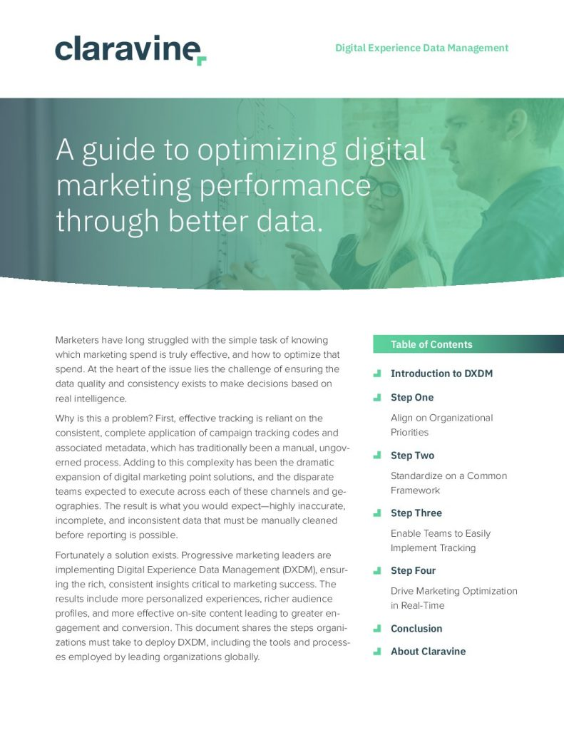 A Guide to Optimizing the Digital Marketing Performance Through Better Data