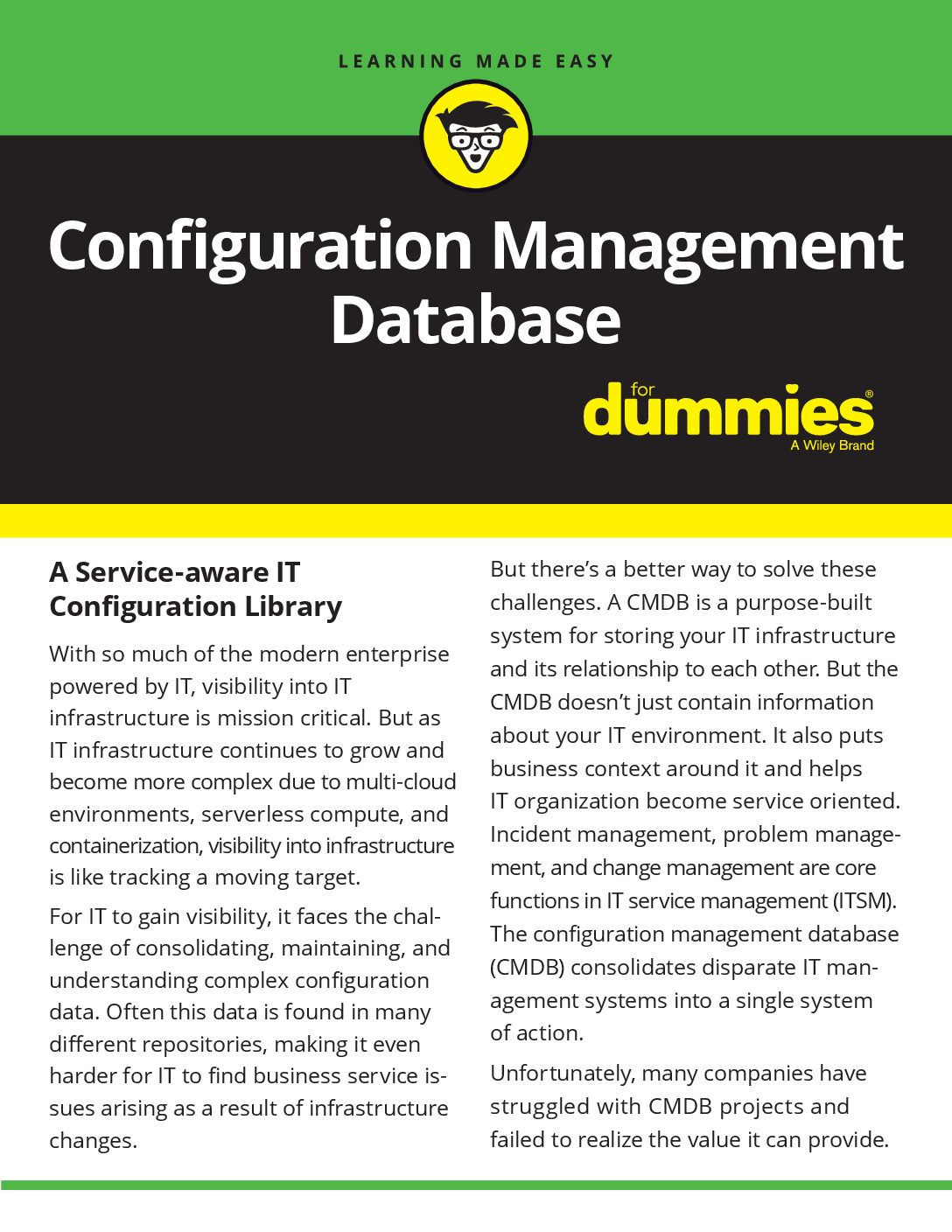 The Configuration Management Database for Dummies iPaper