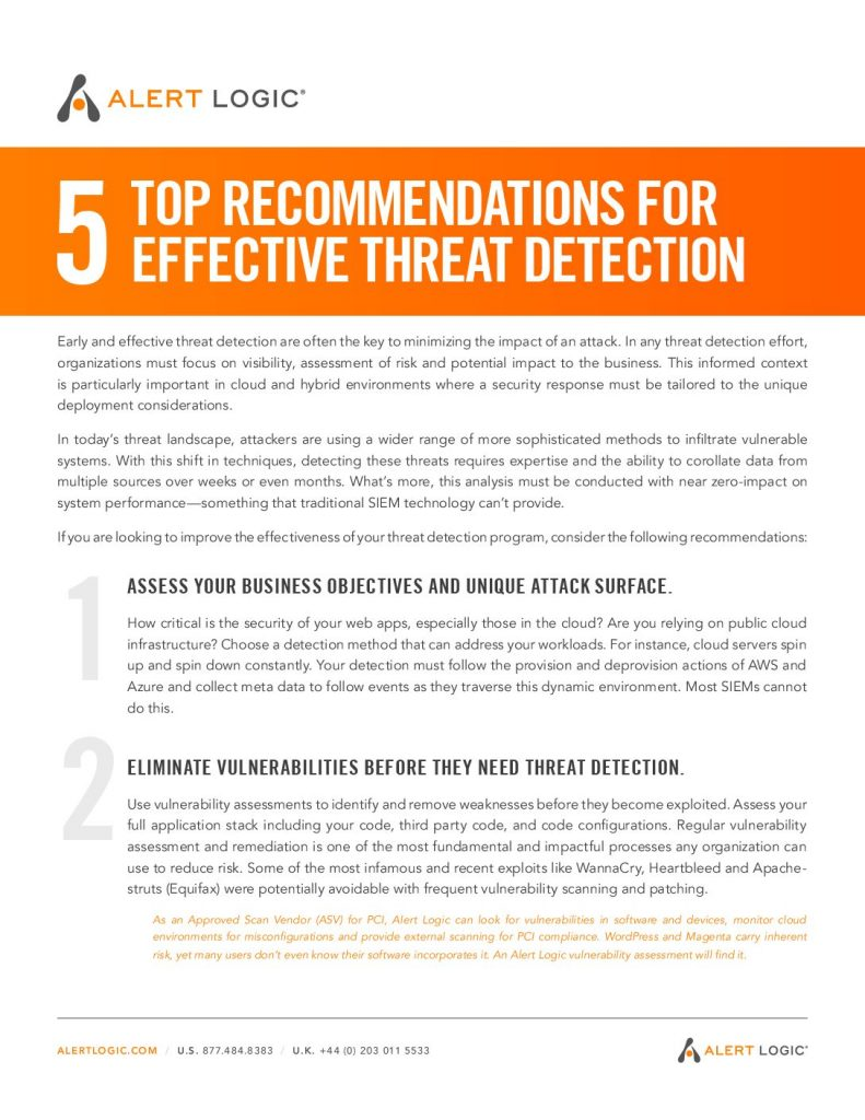 Top 5 Recommendations for Effective Threat Detection