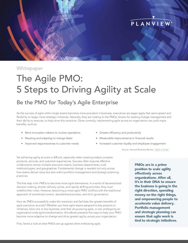 The Agile PMO: Five Steps to Driving Agility at Scale