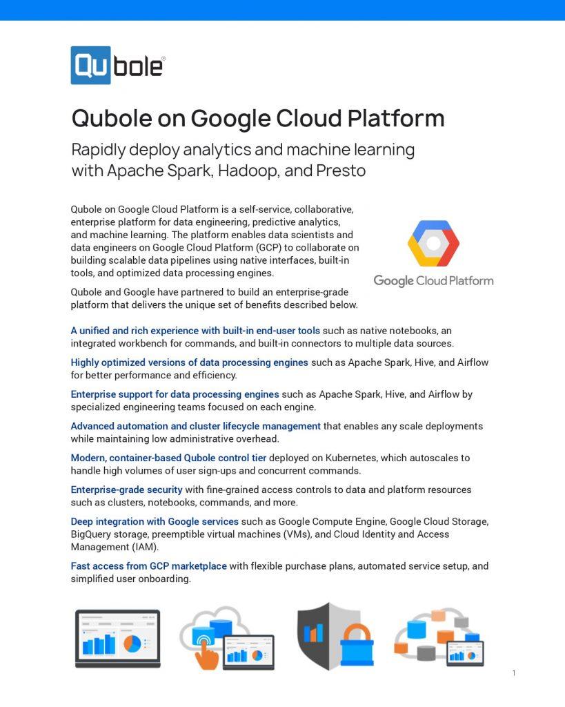 Qubole on Google Cloud Platform