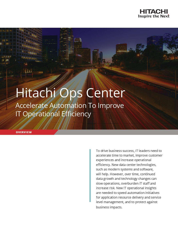 Hitachi Ops Center Brochure