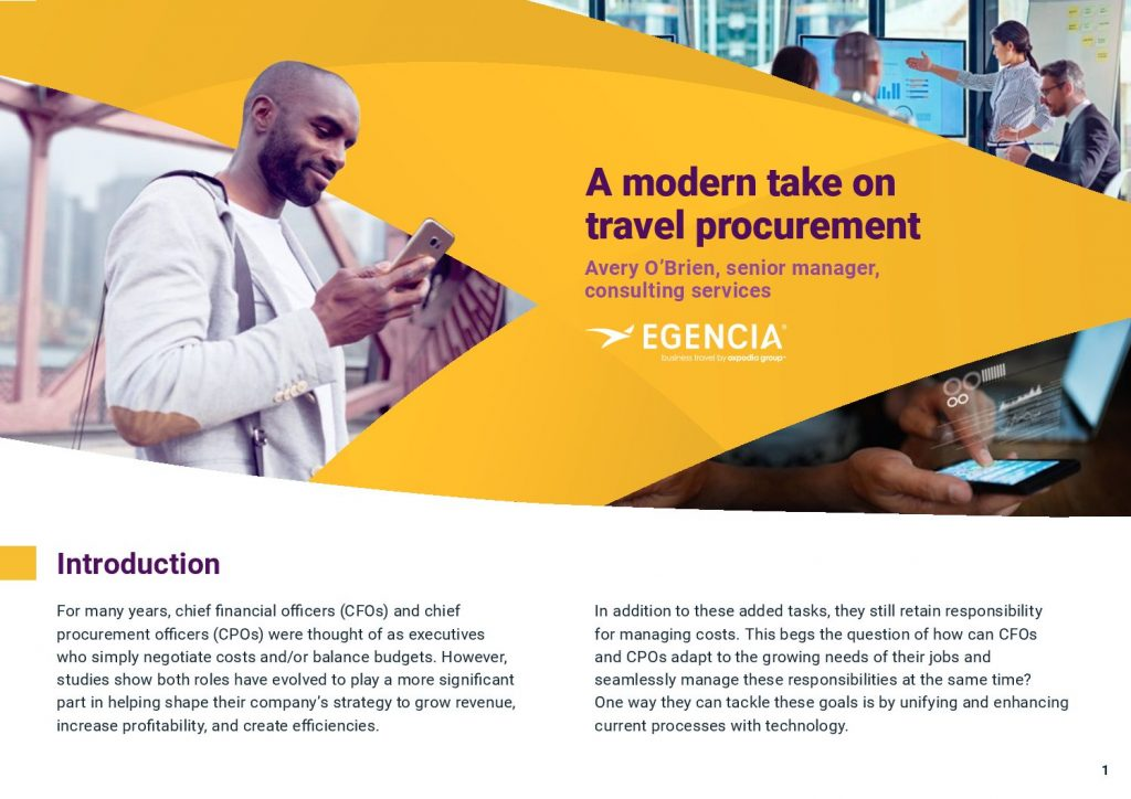 Welcome to the future, a modern take on travel procurement