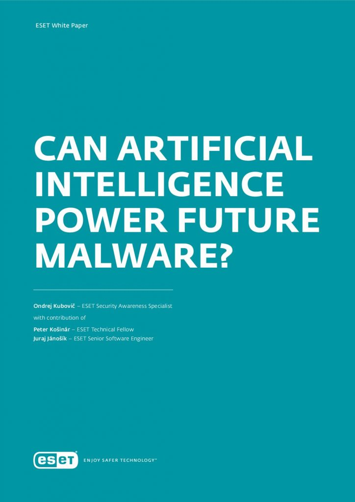 Can Artificial Intelligence Power Future Malware?