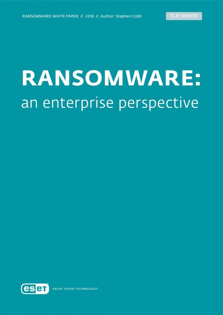 RANSOMWARE: An Enterprise Perspective