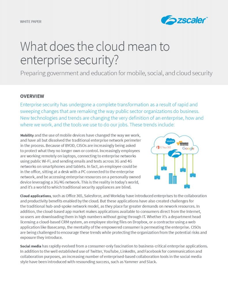 What does the cloud mean to enterprise security?