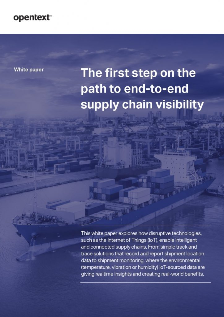 The First Step on the Path to End-to-end Supply Chain Visibility