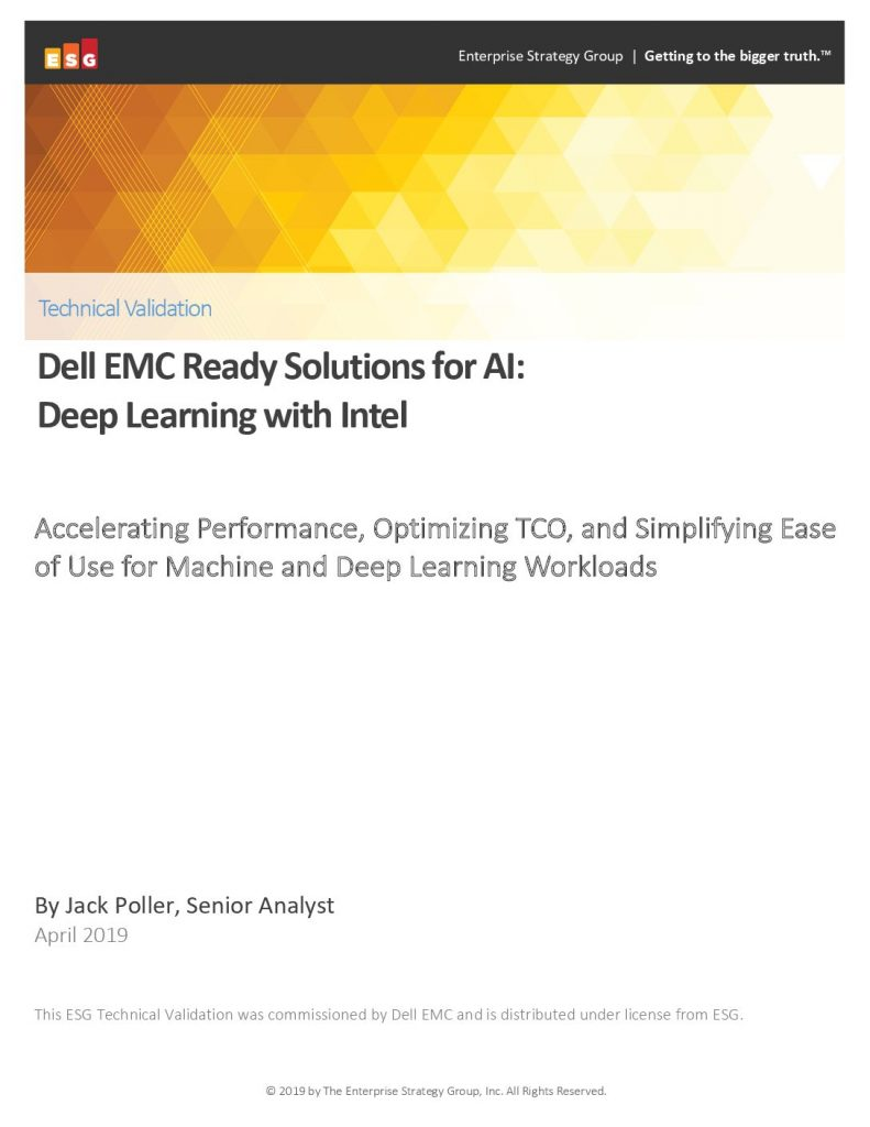 Dell EMC Ready Solutions for AI: Deep Learning with Intel