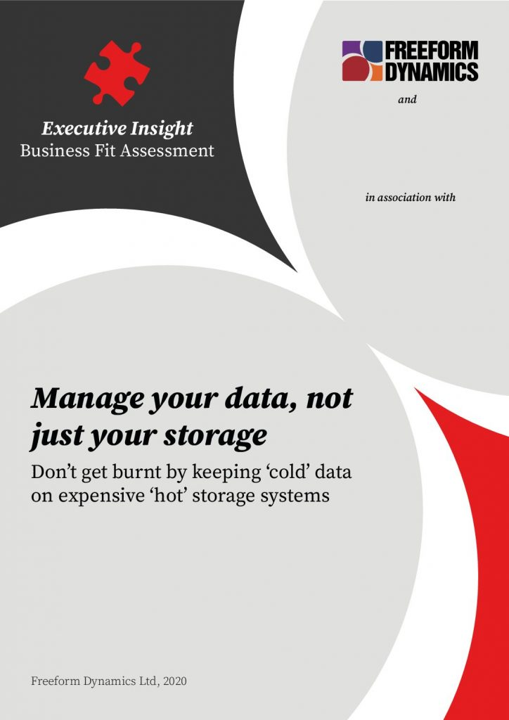 Manage your data not just your storage