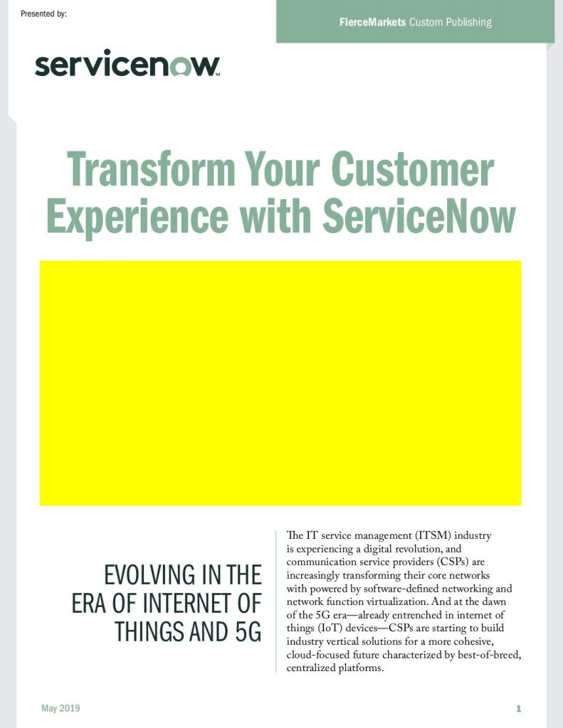 Transform the Telecom Customer Experience with ServiceNow
