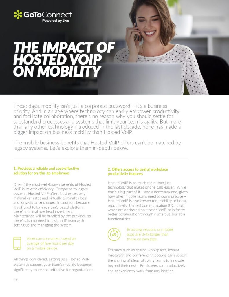 THE IMPACT OF HOSTED VOIP ON MOBILITY